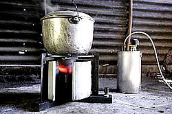 Pflanzenöl-Kocher auf den Philippinen