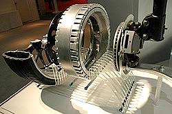 Radnabenmotor des Colt MIEV hybrid auto