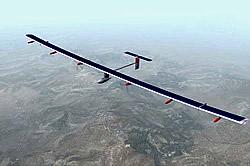 Solarflugzeug Solarimpulse Grafik