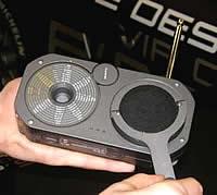 Handkurbelradio im Porsche-Design
