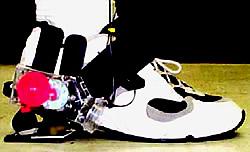 Laufgenerator am Schuh