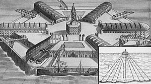 Grafik eines Schwimmenden Meereskraftwerkes