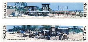 Briefmarkenblock der Republik Nauru mit OTEC