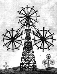 Honnef-Windtürme Grafik