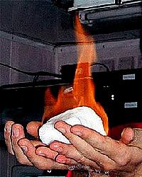 Brennendes Methanhydrat