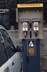 STATTAUTO-Solartankstelle für Elektromobile