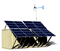 mobile power solar station