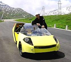 Palmer mit seinem Solartaxi