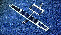 Solarflugzeug Solar Challenger Aufsicht