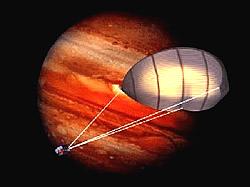 KiteShip vor Jupiter Grafik