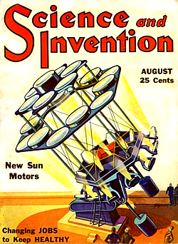 Titelbild der Science and Invention vom August 1934