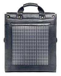 Solartasche Logan Rückseite mit Solarzellen