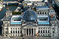 Photovoltaische Solaranlage auf Reichstagsgebäude