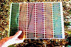Bunte Farbstoff-Solarzelle
