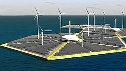 rafik einer OTEC Energie-Insel