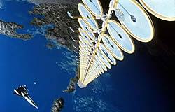 Solarenergie-Satellit Grafik