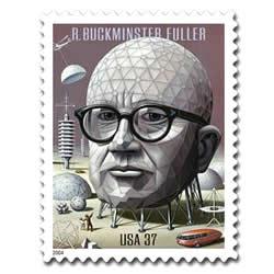 37 Cent Briefmarke mit Bucky Fuller