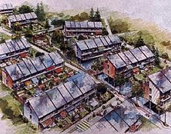 Plusenergiehaus-Siedlung Grafik