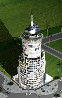 Rotating Tower in Dubai Grafik