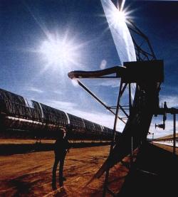 Solarrinnen im Mojave-Kraftwerk