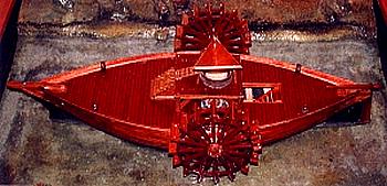 Schwimmende Mühleals Modell