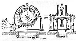 Pelton-Turbine Grafik aus der Patentanmeldung
