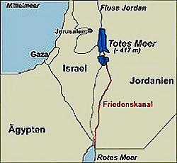 Landkartenskizze des Friedenskanal