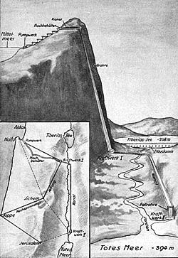 Grafik des Tote-Meer-Projektes von 1931