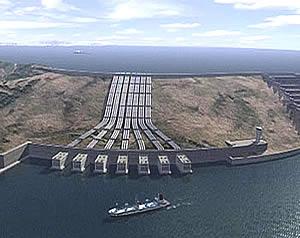 Virtuelles Bild des Gibraltar-Kraftwerks