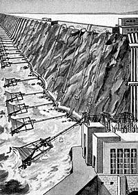 Wellen Energie Meereskraft Wellenkraftwerk von 1931