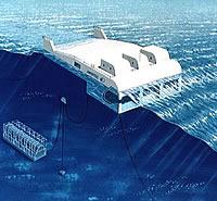 Mighty-Whale Wellenkraftwerk Grafik