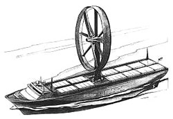 Windrotor-Schiff Grafik