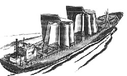 Windturbinen-Schiff Grafik