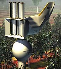 Windkraftanlage mit Luftkondenser und Speichertank