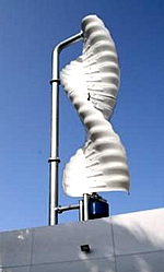 Helix Wind Anlage auf Dach