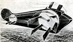 Grafik eines Flugzeugs mit Rotationsflügeln