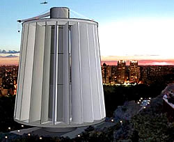 Grafik eine 1 GW Maglev Windturbine