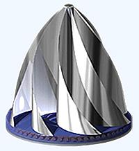 Grafik einer kleinen Maglev Windturbine