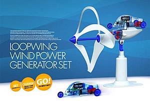 Kleine Loopwing-Turbine mit Modellauto