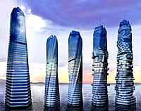 Bewegungsanimation des Dynamic Building