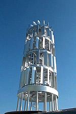 Aussichtsturm mit umlaufenden Rotoren